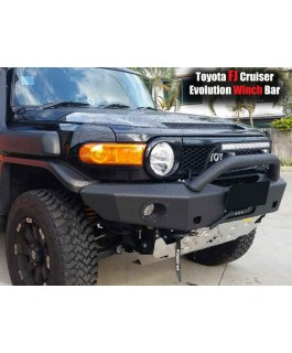 Rhino 4x4 Evolution 3D Winch Bar Suitable For Toyota FJ Cruiser (Black with Light Bar Mount)