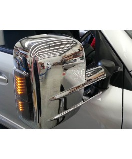 Clearview Next Gen Tow Mirrors Suitable For Toyota Landcruiser 200 Series 2007 on (Chrome with Heated, Power-Fold, BSM, Indicators and Electric) (Pair)