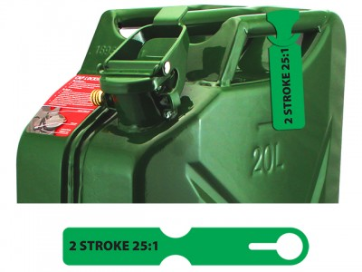 Fuel Can Tag(2 Stroke/Green)