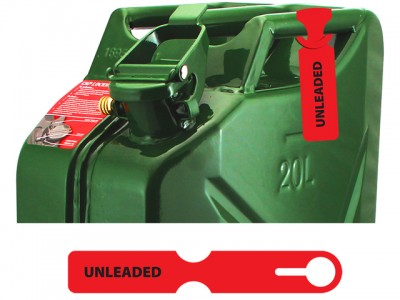 Fuel Can Tag(Unleaded/Red)