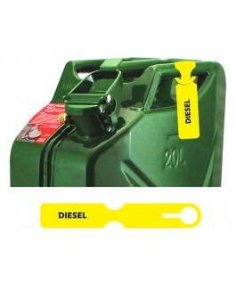Fuel Can Tag(Diesel/Yellow)