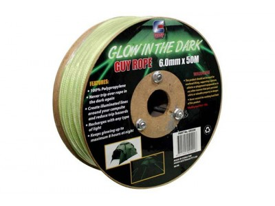Glow in the Dark Guy Rope Bulk Pack - 50m x 4mm