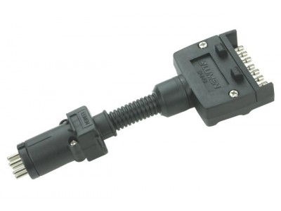 Hayman Reese Trailer Connector Adaptor 7 Pin Flat to 7 Pin Round