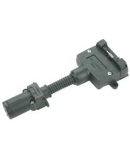 Hayman Reese Trailer Connector Adaptor 7 Pin Round to 7 Pin Flat