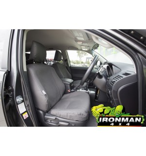 Ironman 4x4 Canvas Seat Covers Front Pair Mitsubishi MQ Triton (2016+)