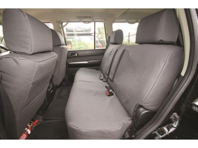 Ironman 4x4 Canvas Seat Covers Rear Set - Nissan D40 Navara (01/2006+)