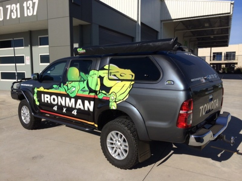 Ironman 4x4 Ute Canopy - Toyota Hilux 2015 on (Round Profile) & Ironman 4x4 Ute Canopy - Toyota Hilux 2015 on (Round Profile ...