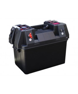 KT Cables Battery Box Portable with Voltmeter