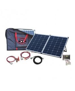 KT Cables Solar Panel Folding Kit 160 Watt Mono - Dual Battery Charging
