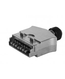 KT Cables 7 Pin Flat Metal Male Trailer Plug
