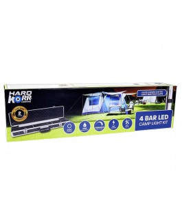 KORR 4 BAR WHITE LED CAMPING LIGHT KIT (NEW MODEL)