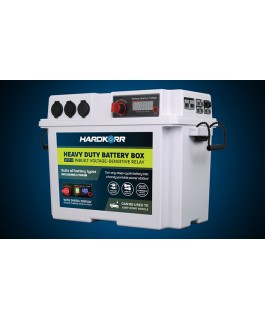 Hard Korr Heavy Duty Battery Box With Voltage-Sensitive Relay (VSR)