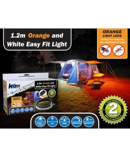 LED Camp Light 1.2m Orange/White Ezy Fit LED kit (Kit)