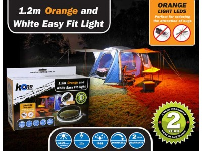 LED Camp Light 1.2m Orange/White Ezy Fit LED kit