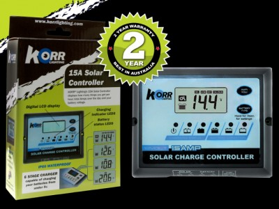 Korr Lighting 15A Solar Controller