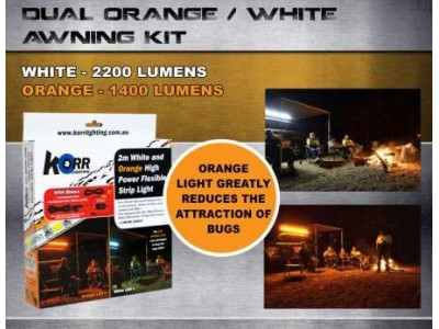 LED Camp Light Dual Orange/White LED Awning Kit