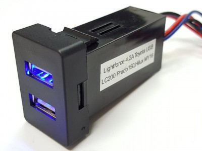 Lightforce Dual USB Outlet In-dash Suit Suitable For Toyota