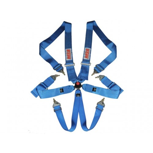 MSA Safety CAMS/ANDRA Racing Harness FIA Approved (Blue