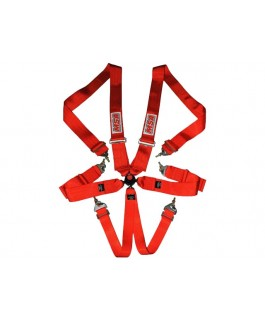 MSA Safety CAMS/ANDRA Racing Harness FIA Approved (Red)