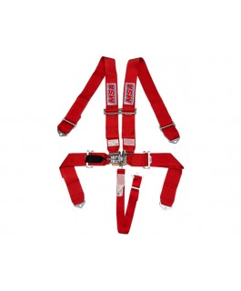MSA Safety 5 Point Racing Harness SFI 16.1 spec Approved (Red)