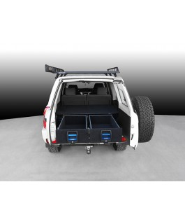 MSA 4x4 Double Drawer System Suitable For Nissan Patrol GU 4 on