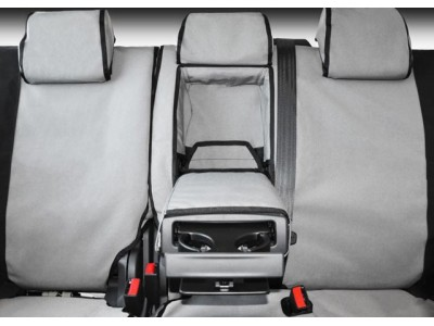 MSA 4X4 Premium Canvas Seat Covers Suitable For Ford Courier 99-07 (Front Full Width Bench)