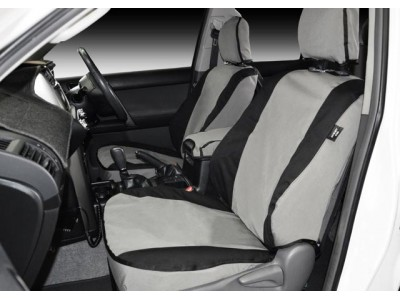 MSA 4X4 Premium Canvas Seat Covers Suitable For Volkswagen Amarok 2011 on Trendline/Highline/Ultimate Dual Cab (Rear 60/40 Bench Single Back w/3 Headrests)