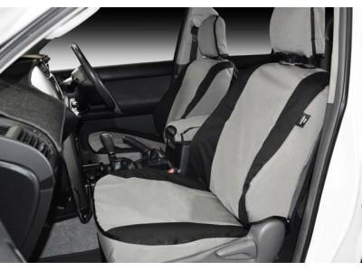 MSA 4X4 Premium Canvas Seat Covers Nissan Navara D40 2009 15 ST Rear Dual