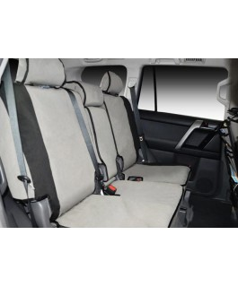 MSA 4X4 Premium Canvas Seat Covers Suitable For Mitsubishi Triton MQ 2015 on EXCEED (Rear Bench with Centre Fold-down Armrest Cover, 3 x Headrests and Lapsash seat belt in centre)