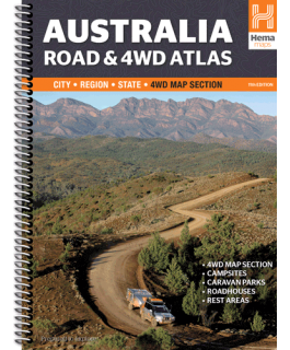 Australia Road + 4WD Atlas Spiral 11th Edition