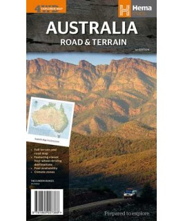 Australia Road and Terrain Map