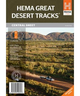 Great Desert Tracks Central Sheet Map Hema