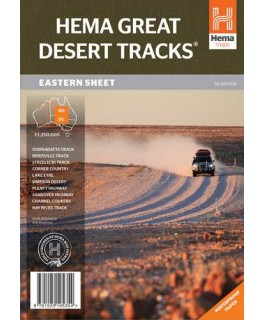 Great Desert Tracks East Sheet Map Hema