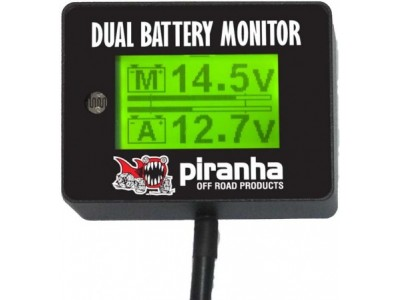 Piranha Offroad Dual Battery Monitor