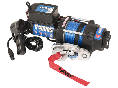 VRS Utility Winch with Synthetic Rope - 4000lbs