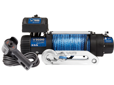 VRS Winch with Synthetic Rope - 9500lbs