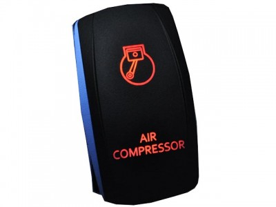 Rocker Switch Air Compressor Red LED