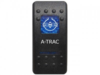 Rocker Switch A-Trac Blue Printed Lens