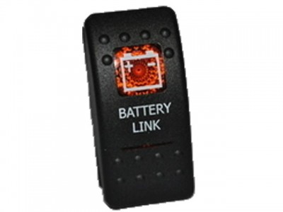 Rocker Switch Battery Link Amber Printed Lens