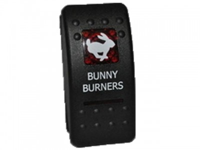 Rocker Switch Bunny Burners Red Printed Lens