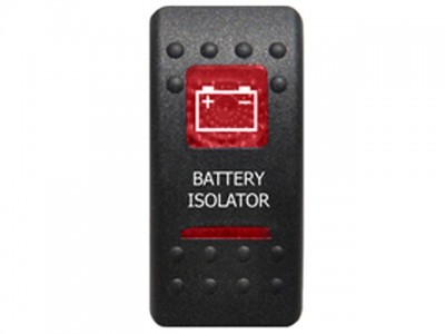Rocker Switch Battery Isolator Red Printed Lens