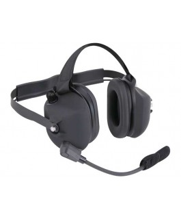 Rugged Radios H43 Black 2-Way Radio Headset