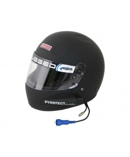Rugged Radios Pyrotect Pro Airflow Side Air Helmet - Flat Black MEDIUM