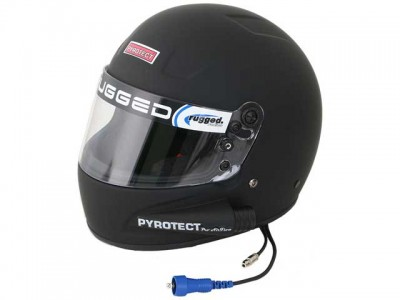Rugged Radios Pyrotect Pro Airflow Side Air Helmet - Flat Black