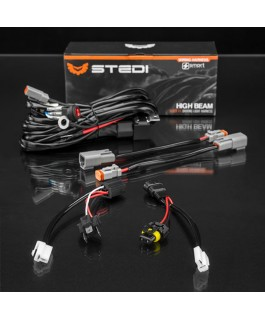 STEDI Dual Connector Plug and Play SMART Harness™ High Beam Driving Light Wiring (Kit)
