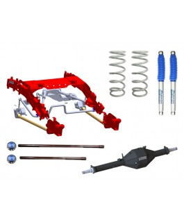 Superior Bolt in Coil Conversion VSB14 Approved 2 Inch Lift Kit with Track Corrected Chromoly Diamond Diff Housing w/Nitro Gas Shocks (Rear Only) Suitable For Toyota Landcruiser 79 Series Gen 2 (VSC Models)