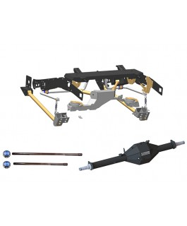 Superior Weld in Coil Conversion VSB14 Approved Kits with Track Corrected Chromoly Diamond Diff Housing Suitable For Toyota Landcruiser 79 Series Gen 1 (Non-VSC Models)