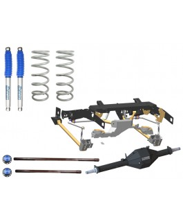 Superior Weld in Coil Conversion VSB14 Approved 2 Inch Lift Kit with Track Corrected Chromoly Diamond Diff Housing w/Nitro Gas Shocks (Rear Only) Suitable For Toyota Landcruiser 79 Series Gen 2 (VSC Models)