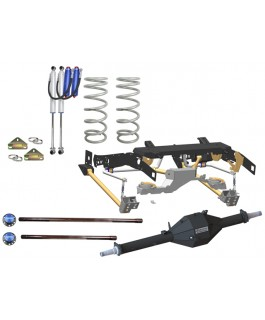 Superior Weld in Coil Conversion VSB14 -Approved 2 Inch Lift Kit with Track Corrected Chromoly Diamond Diff Housing w/Remote Reservoir Shocks (Rear Only) Suitable For Toyota Landcruiser 79 Series Gen 1 (Non-VSC Models)