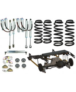 Superior Weld In Coil Conversion VSB14 Approved 2 Inch Lift Kit w/Remote Reservoir Shocks (Front and Rear) Suitable For Toyota Landcruiser 79 Series Gen 1 (Non-VSC Models)